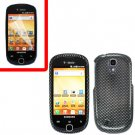 For Samsung Gravity Smart / Galaxy Q SGH-T589 Cover Hard Case Carbon Fiber +Screen Protector