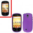 For Samsung Gravity Smart / Galaxy Q SGH-T589 Cover Hard Case Purple +Screen Protector