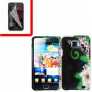 For Samsung Galaxy S II i9100 Cover Hard Case GR-Flower +Screen Protector