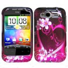 For HTC Wildfire S Cover Hard Case Love