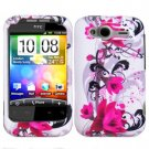 For HTC Wildfire S Cover Hard Case W-Flower