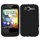 For HTC Wildfire S Cover Hard Case Black
