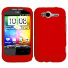 For HTC Wildfire S Cover Hard Case Red