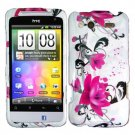 For HTC Status / ChaCha Cover Hard Case W-Flower