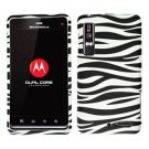 For Motorola Droid 3 XT862 Cover Hard Case Zebra