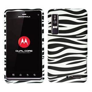 For Motorola Droid 3 XT862 Cover Hard Case Zebra