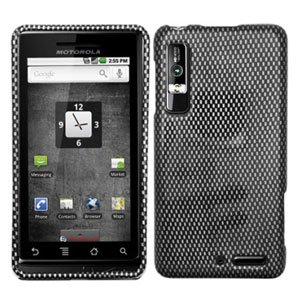 For Motorola Droid 3 XT862 Cover Hard Case Carbon Fiber