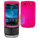For BlackBerry Torch 9810 4G Cover Hard Case H-Pink + Screen Protector