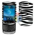 For BlackBerry Torch 9800 Cover Hard Case Zebra + Screen Protector