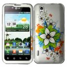 For LG Marquee LS855/ Optimus Black P970 Cover Hard Case C-Flower