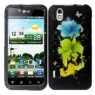 For LG Marquee LS855/ Optimus Black P970 Cover Hard Case T-Flower