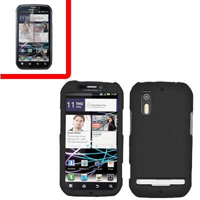 For Motorola Photon 4G/ Electrify MB855 Cover Hard Case Black +Screen 2-in-1