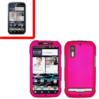 For Motorola Photon 4G/ Electrify MB855 Cover Hard Case H-Pink +Screen 2-in-1