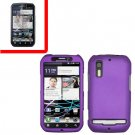 For Motorola Photon 4G/ Electrify MB855 Cover Hard Case Purple +Screen 2-in-1