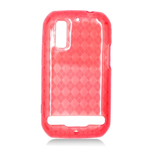 For Motorola Photon 4G MB855 Cover TPU Case D-Clear Red