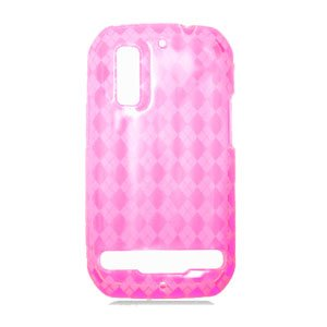 For Motorola Photon 4G MB855 Cover TPU Case D-Clear Pink