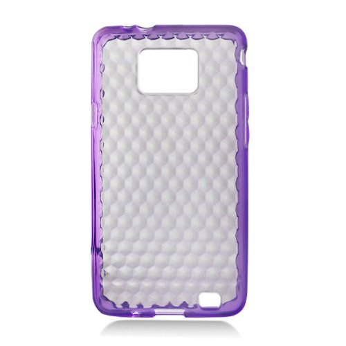 For Samsung Galaxy S II 4G TPU Case H-Clear -Purple