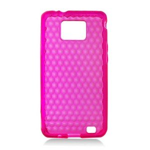 For Samsung Galaxy S II 4G TPU Case H-Clear -Pink