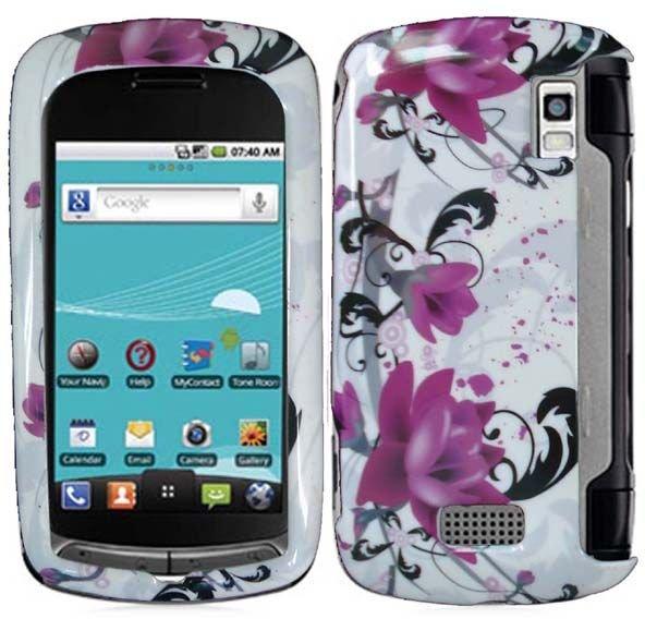For LG Genesis US760 Cover Hard Case W-Flower