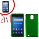 For Samsung Galaxy S Infuse 4G Cover Hard Case Green +Screen Protector