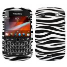 For BlackBerry Bold 9900 4G Cover Hard Case Zebra