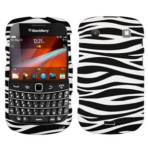 For BlackBerry Bold 9900 4G Cover Hard Case Zebra