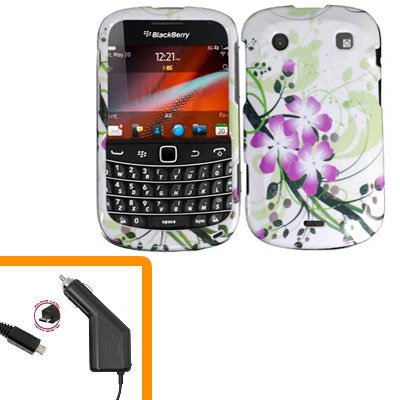 For BlackBerry Bold 9930 4G Car Charger + Cover Hard Case G-LiLy