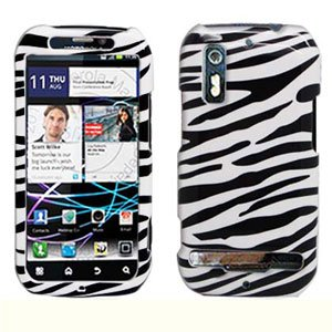 For Motorola Photon 4G/ Electrify MB855 Cover Hard Case Zebra