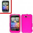 For T-Mobile HTC Wildfire S Cover Hard Case H-Pink + Screen Protector 2-in-1