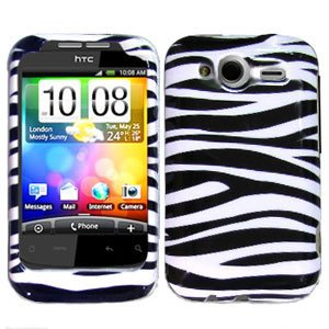 For T-Mobile HTC Wildfire S Cover Hard Case Zebra