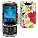 For BlackBerry Torch 9800 9810 4G Cover Hard Case R-Flower