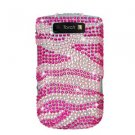 For BlackBerry Torch 9810 4G Cover Hard Case Crystal Bling Pink Zebra