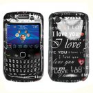 FOR BLACKBERRY CURVE 3G 9300 9330 COVER HARD CASE B-ILU