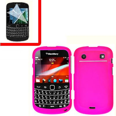 For BlackBerry Bold 9930 9900 4G Cover Hard Case H-Pink +Screen
