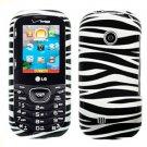 For LG Cosmos 2 VN251 Cover Hard Case Zebra