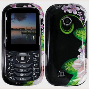 For LG Cosmos 2 VN251 Cover Hard Case GR-Flower