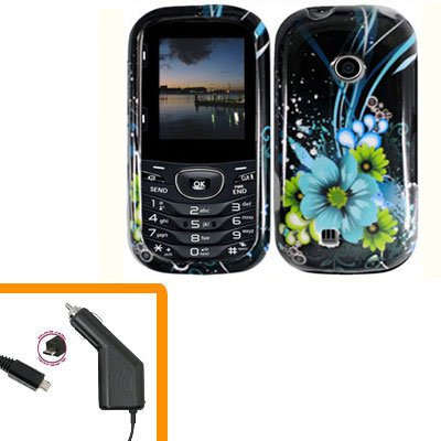For LG Comos 2 VN251 Car Charger +Cover Hard Case M-Flower 2-in-1