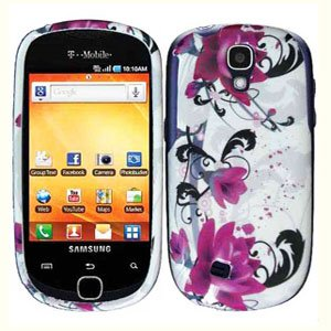 For Samsung Gravity Smart / Galaxy Q SGH-T589 Cover Hard Case W-Flower