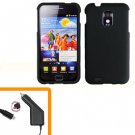 For Samsung Galaxy S II Epic 4G Touch Car Charger +Hard Case Black