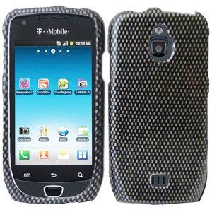 For Samsung Exhibit 4G T759 Cover Hard Case Carbon Fiber