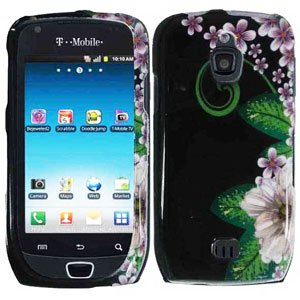 For Samsung Exhibit 4G T759 Cover Hard Case GR-Flower
