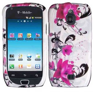 For Samsung Exhibit 4G T759 Cover Hard Case W-Flower