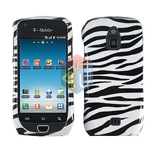 For Samsung Exhibit 4G T759 Cover Hard Case Zebra