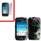 For Samsung Exhibit 4G T759 Cover Hard Case GR-Flower +Screen Protector