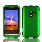 For Samsung Conqure 4G D600 Cover Hard Case Rubberized Green