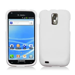 For T-Mobile Samsung Galaxy S II T989 Cover Hard Case Rubberized White