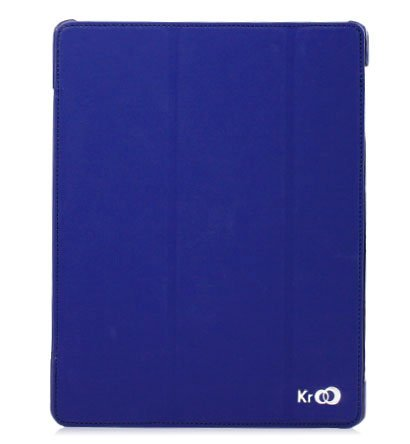 For Apple ipad 2 Cover Case w/ Smart Mode / Fold Stand #Blue Tri-Pad Shell