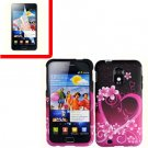 For Samsung Galaxy S II Epic 4G Touch D710 Cover Hard Case Love +Screen 2 in1