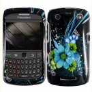 For BlackBerry Curve 9360/ 9370/ 9350 Cover Hard Case M-Flower