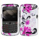 For BlackBerry Curve 9360/ 9370/ 9350 Cover Hard Case W-Flower